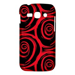 Abtract  Red Roses Pattern Samsung Galaxy Ace 3 S7272 Hardshell Case