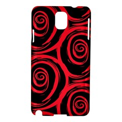 Abtract  Red Roses Pattern Samsung Galaxy Note 3 N9005 Hardshell Case