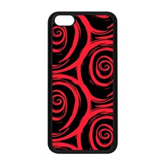 Abtract  Red Roses Pattern Apple iPhone 5C Seamless Case (Black)