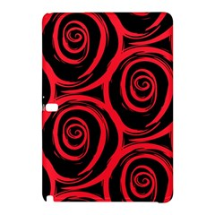 Abtract  Red Roses Pattern Samsung Galaxy Tab Pro 12 2 Hardshell Case
