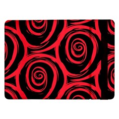 Abtract  Red Roses Pattern Samsung Galaxy Tab Pro 12.2  Flip Case
