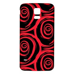 Abtract  Red Roses Pattern Samsung Galaxy S5 Back Case (White)