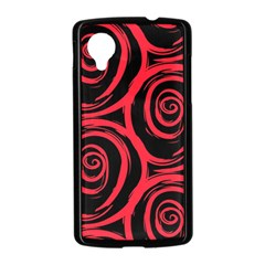 Abtract  Red Roses Pattern Nexus 5 Case (Black)