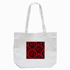 Abtract  Red Roses Pattern Tote Bag (white)