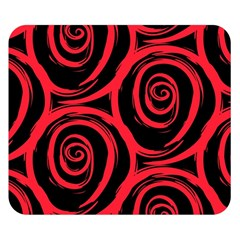 Abtract  Red Roses Pattern Double Sided Flano Blanket (small)