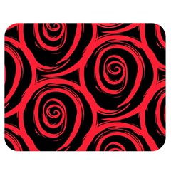 Abtract  Red Roses Pattern Double Sided Flano Blanket (medium)