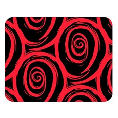 Abtract  Red Roses Pattern Double Sided Flano Blanket (Large)