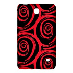 Abtract  Red Roses Pattern Samsung Galaxy Tab 4 (7 ) Hardshell Case