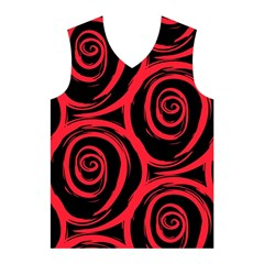 Abtract  Red Roses Pattern Men s Basketball Tank Top