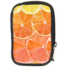 Orange Compact Camera Leather Case