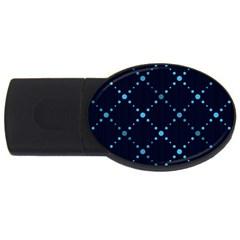 Seamless Geometric Blue Dots Pattern  Usb Flash Drive Oval (4 Gb)