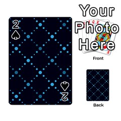 Seamless Geometric Blue Dots Pattern  Playing Cards 54 Designs