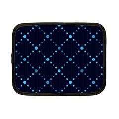 Seamless Geometric Blue Dots Pattern  Netbook Case (small)