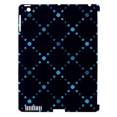 Seamless geometric blue Dots pattern  Apple iPad 3/4 Hardshell Case (Compatible with Smart Cover)