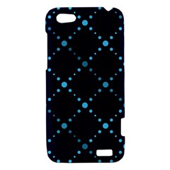 Seamless geometric blue Dots pattern  HTC One V Hardshell Case