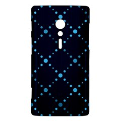 Seamless geometric blue Dots pattern  Sony Xperia ion
