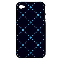 Seamless geometric blue Dots pattern  Apple iPhone 4/4S Hardshell Case (PC+Silicone)