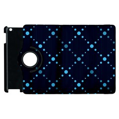 Seamless geometric blue Dots pattern  Apple iPad 2 Flip 360 Case
