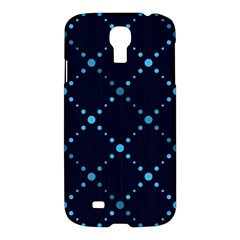 Seamless geometric blue Dots pattern  Samsung Galaxy S4 I9500/I9505 Hardshell Case