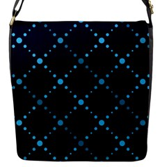Seamless geometric blue Dots pattern  Flap Messenger Bag (S)