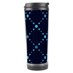 Seamless geometric blue Dots pattern  Travel Tumbler