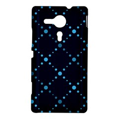 Seamless geometric blue Dots pattern  Sony Xperia SP