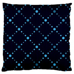 Seamless geometric blue Dots pattern  Large Flano Cushion Case (One Side)