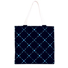 Seamless geometric blue Dots pattern  Grocery Light Tote Bag