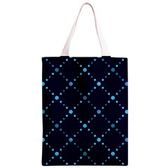 Seamless geometric blue Dots pattern  Classic Light Tote Bag