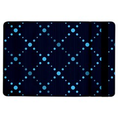 Seamless Geometric Blue Dots Pattern  Ipad Air 2 Flip