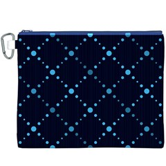 Seamless geometric blue Dots pattern  Canvas Cosmetic Bag (XXXL)