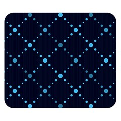 Seamless Geometric Blue Dots Pattern  Double Sided Flano Blanket (small)