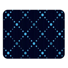 Seamless geometric blue Dots pattern  Double Sided Flano Blanket (Large)