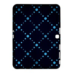 Seamless geometric blue Dots pattern  Samsung Galaxy Tab 4 (10.1 ) Hardshell Case