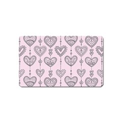 Sketches Ornamental Hearts Pattern Magnet (name Card)