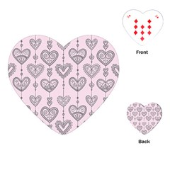 Sketches Ornamental Hearts Pattern Playing Cards (heart)