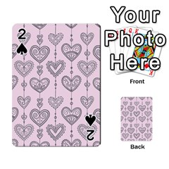 Sketches Ornamental Hearts Pattern Playing Cards 54 Designs