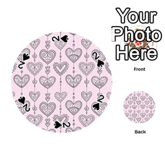 Sketches Ornamental Hearts Pattern Playing Cards 54 (round)