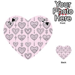 Sketches Ornamental Hearts Pattern Playing Cards 54 (heart)