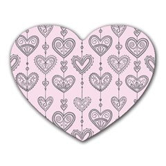 Sketches Ornamental Hearts Pattern Heart Mousepads