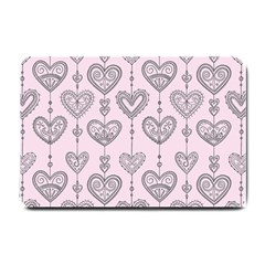 Sketches Ornamental Hearts Pattern Small Doormat