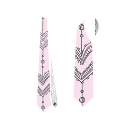 Sketches Ornamental Hearts Pattern Neckties (one Side)