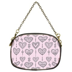 Sketches Ornamental Hearts Pattern Chain Purses (two Sides)
