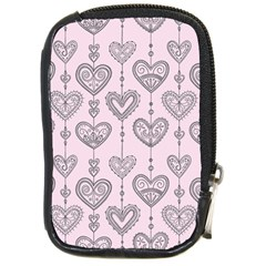 Sketches Ornamental Hearts Pattern Compact Camera Cases