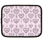 Sketches Ornamental Hearts Pattern Netbook Case (XL)  Front