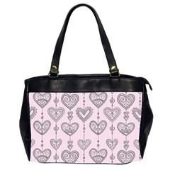 Sketches Ornamental Hearts Pattern Office Handbags (2 Sides)