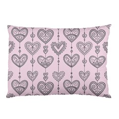 Sketches Ornamental Hearts Pattern Pillow Case (two Sides)