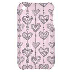 Sketches Ornamental Hearts Pattern Apple iPhone 3G/3GS Hardshell Case