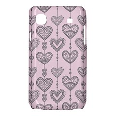 Sketches Ornamental Hearts Pattern Samsung Galaxy SL i9003 Hardshell Case