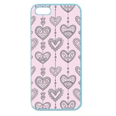 Sketches Ornamental Hearts Pattern Apple Seamless iPhone 5 Case (Color)